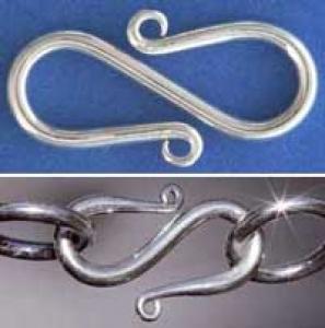 Schmuckzubehör Verschlüsse S Haken Sterling Silber Glaskunst