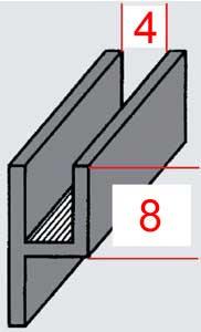 glasinsel shop bleiverglasung bleiprofile randblei u profile. Black Bedroom Furniture Sets. Home Design Ideas