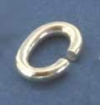 Bending ring,oval,Sterling Silver,ca. 8 x 7 x 1 mm