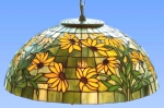 "Hanging lamp,replica lamp "" Black Eyed Susan "",T 1447,Ø 16"""