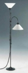 Floor lamp,torchiere lamp with reading lamp,brown,shades white